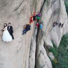 بالصور.. أخطر حفل زفاف في العالم؟