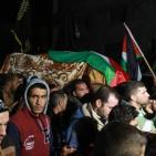 الآلاف يُشيعون جثمان الشهيدة أنصار هرشة في بلدة قفين قضاء طولكرم