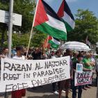مظاهرة أمام مقر ميركل تنديدا بزيارة نتنياهو