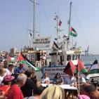صور- سفن كسر الحصار تواصل رحلتها نحو غزة