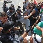 اصابة عدد من المواطنين بينهم الوزير وليد عساف بالاختناق واعتقال مرافقه خلال قمع الاحتلال مسيرة الخان الاحمر
