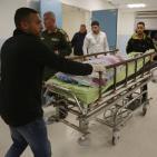 وداع الشهيد عثمان لدادوة في المستشفى الاستشاري برام الله