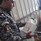 طوباس: ضبط مبيدات زراعية ممنوعة من التداول