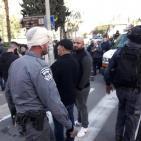صور:  شرطة الاحتلال تقمع احتاج  على اساءة للمسيح في حيفا