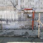 استمرار العمل بإعادة إعمار منزل عائلة أبو حميد