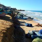 ميناء غزة ودير البلح يتعرضان لأضرار جسيمة جراء المنخفض الجوي الأخير