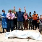 مراسم تشييع مواطن توفى بكورونا في الخليل