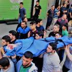 بالصور.. غزة تشيع جثامين شهداء العدوان الإسرائيلي