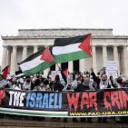 بالصور: تظاهرة حاشدة في واشنطن تنديدًا بجرائم الاحتلال الإسرائيلي