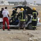 بالصور: الدفاع المدني ينفذ مناورة في بيت لحم