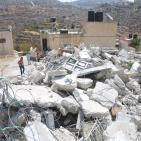 الاحتلال يهدم منازل 3 شهداء ويغلق الرابع بالاسمنت في قريتي دير ابو مشعل وسلواد