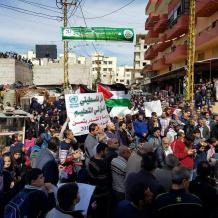 """اعتصامات في مخيمات لبنان رفضا لمحاولات إلغاء """"الأونروا"""""""