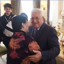 """مارادونا لـ """"ابو مازن"""" : قلبي فلسطيني"""