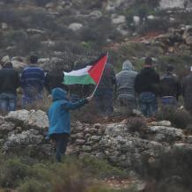"""مسيرة رأس كركر """"جبل الريسان"""" ضد مصادرة الأراضي"""