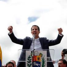 رئيس البرلمان الفنزويلي يعلن نفسه رئيساً وترامب يعترف به