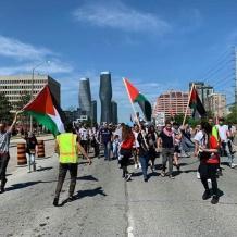 تظاهرة رافضة للضم في مدينة تورونتو الكندية