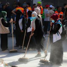 """""""حنعمرها"""" أكبر حملة تطوعية لتنظيف مدينة غزة من الركام"""