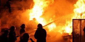 مصرع طفلة رضيعة في حريق بغزة