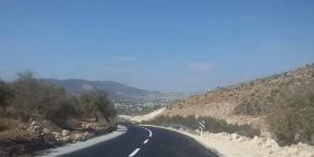وزارة الاشغال تنجز انشاء طريق طوباس الجديدة