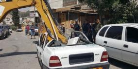 إتلاف 30 مركبة غير قانونية في طوباس