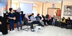 انجاز فلسطين تعقد ورشة تدريبية للمتطوعين في محافظة سلفيت