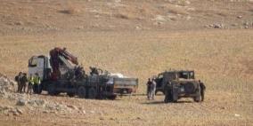 الاحتلال يواصل منع مواطن من بناء خيامه في الأغوار