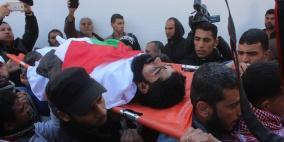 """تشييع جثمان الشهيد """"المُقعد"""" إبراهيم أبو ثريا في غزة"""
