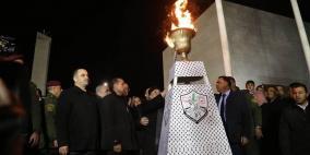الرئيس يضيء شعلة انطلاقة الثورة تحت عنوان القدس عاصمة فلسطين