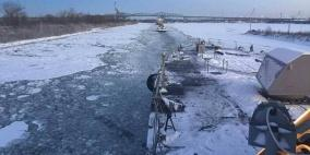 أحدث سفينة حربية أميركية تعلق في الجليد