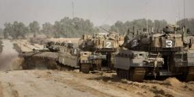 توغل لآليات الاحتلال شرق القرارة وسط اطلاق نار