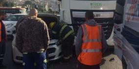 إصابة سيدة في حادث سير بقرية الرامة