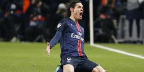 كافاني يثير القلق في باريس قبل موقعة ريال مدريد