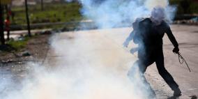 إصابة 8 مواطنين في مواجهات جنوب نابلس