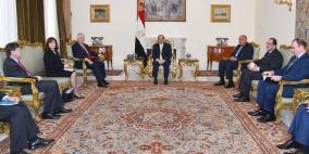 السيسي يدعو واشنطن الى اعادة احياء مفاوضات السلام