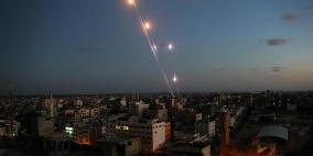 الاحتلال يعلن سقوط صاروخ من غزة