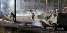 حالات اختناق بمواجهات مع الاحتلال في فحمة جنوب جنين