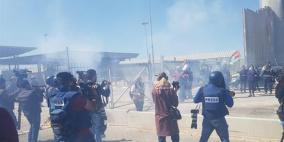 إصابات في قمع الاحتلال مسيرة نسوية قرب حاجز قلنديا
