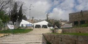 مستوطنون ينصبون خياما في ساحة الحرم الابراهيمي