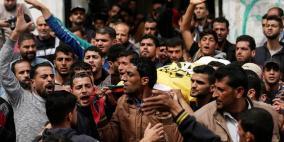 تشييع جثمان الشهيد الصياد اسماعيل ابو ريالة في غزة