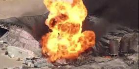 انفجار ضخم في مصنع كيماويات أميركي