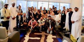 الرجوب والجودر يتفقدان الوفد الشبابي الفلسطيني في البحرين