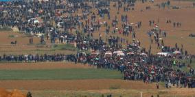 الآلاف يتوافدون للمشاركة في مسيرات العودة