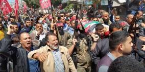 غزة تودع شهداء يوم الأرض بمواكب جنائزية مهيبة