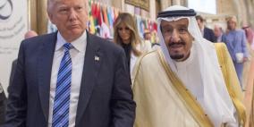 """الملك سلمان يبحث مع ترامب """"التطورات الأخيرة في فلسطين"""""""