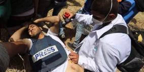 محدث- اصابة 6 صحفيين برصاص الاحتلال شرق غزة