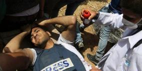 استشهاد مواطنين احدهما صحفي في غزة