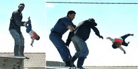 بالفيديو :أب يلقي ابنته الرضيعة من سطح المنزل