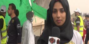 رزان النجار مسعفة متدربة لم تمنعها اصابتها من مواصلة رسالتها