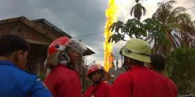 10 قتلى بحريق في بئر نفط إندونيسي