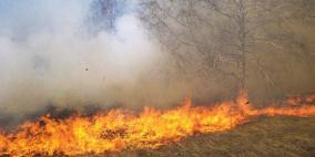 """فيديو.. حريق كبير في """"كيسوفيم"""" بفعل طائرة ورقية حارقة"""